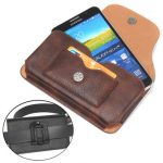 Universal Rhino PU Leather Magnetic Wallet Card-slot Waist Bag For Phone From 5.1 to 6.3 Inch