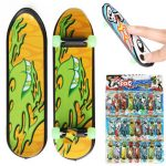 "24pcs 3.94"" Mini Skateboard Teach Deck Fingerboards Luminous Bearing Wheel"