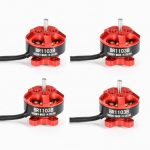 4X Racerstar Racing Edition 1103 BR1103B 10000KV 1-3S Brushless Motor Red For 50 80 100 Mini Frame