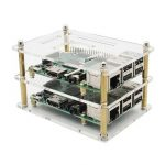 Double Layer Acrylic Case For Raspberry Pi 3 Model B 2B And B V35 Version With Screws