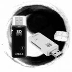 USB 3.0 High Speed Mini Memory Card Reader Memory Adapter for SD/SDHC/SDXC