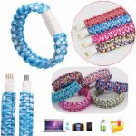 Micro USB Data Sync Charging Cable Wristband Bracelet For Tablet Cellphone Random Shipment