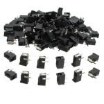 100Pcs DC002 Three Pin DC Jack Socket Power Connector Charging Port