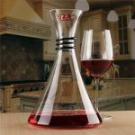NUOLAWEIER 1800ml Lead-free Crystal Glass Red Wine Decanter Carafe Aerator Pourer
