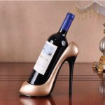 Creative High Heels Red Wine Holder DIY Table Crafts for Dining Room Home Decoration
