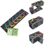 LING AO Rainbow 12-Panel Magic 8 Ring Puzzle Toy Ghost Hand Toy