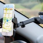 360 Rotating Universal Telescopic Bracket Suction Cup Dashboard Mount Stand For iPhone Xiaomi HTC
