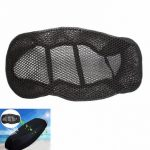3D Motorcycle Scooter Seat Cover Net Breathable Protector Black