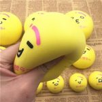 Yellow Bun Squishy Toy 7cm 10cm Slow Rising Kawaii Emoji Charm Phone Bag Strap Gift