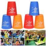 12Pcs Quick Speed Stacker Cups Fast Stacking Stacks Competition Sport Game Toy