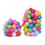 100Pcs Children Ocean Ball Pool Colorful Plastic Swiming Balls Soft Pit Toy Mesh Bag