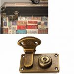 Archaize Wooden Lock Suitcase Box Lock Around the Trunk Lock to Lock
