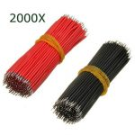 2000Pcs 6cm Breadboard Jumper Cable Electronic Wires Black Red Colour
