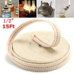 1/2 Inch Flat Cotton Wick 15 Foot Oil Lamps and Lanterns Cotton Wick 4.5M Length