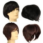 Men Cosplay Wig Handsome Short Straight Hair Party Full Wigs