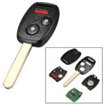 3 Button Uncut Key Keyless Entry Car Remote Transmitter Fob For Honda MLBHLIK-1T