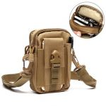 6inches Cellphone Men Nylon Crossbody Bag Tool Tactical Waist Bag