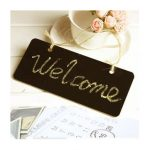 Mini Blackboard Door Plate With String Wedding Party Decoration