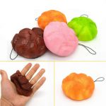 Squishy Puff 9cm Random Color Phone Bag Strap Pendent Decor