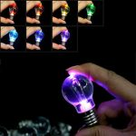 12 Colors Bulb Lamp Outdoor Camping LED Keychain Flashlight