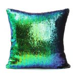 40X40cm Mermaid Magical Color Change Fashion Fabrics Sequin Pillow Case Home Decor