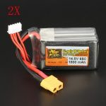 2 PCS ZOP Power 14.8V 1800mAh 65C 4S Lipo Battery XT60 Plug