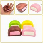 Squishy Milk Chocolate Cake Bread Random Color Collection Toy Gift Decor 8 4cm