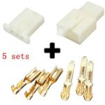 5sets 2.8mm 3 Way Motorcycle Electrical Male Female Connector Terminal Housing
