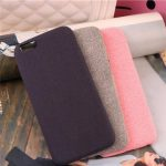 Soft Winter Solid color Deer Flannelette Keep Warm Case Back Cover for iPhone 7 4.7 Inch