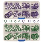 145Pcs A/C R134a System Air Conditioning O Ring Seals Washer Kit