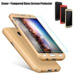 360 Full Hybrid Tempered Glass Hard Case Cover For Samsung Galaxy S7