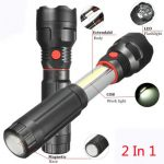 3Modes Zoomable COB Magnetic Inspection LED Hand Flashlight Work Light