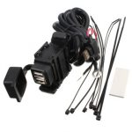 2.1A Dual USB Power Charger Port Socket Waterproof Motorcycle Mobile Phone GPS
