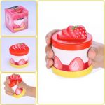 Vlampo Squishy Strawberry Cupcake Slow Rising Original Packaging Cake Collection Gift Toy Decor