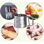 Stainless Steel Mechanical Baking Icing Flour Sugar Sifter Shaker