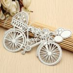 Bicycle Balloon Metal Cutting Dies Stencil Scrapbooking Embossing Album Craft