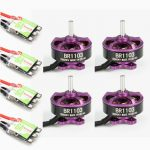 4X Racerstar Racing Edition 1103 BR1103 10000KV 1-2S Motor Purple 4X RS6A V2 Blheli_S ESC D-shot