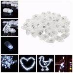 50pcs White LED Balloon Lamp Decoration Light for Xmas Party Wedding Birthday Lantern