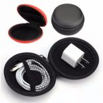 Small Round PU EVA Portable Carrying Storage Bag Case For Earphone Cable
