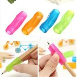 4 Pcs Soft Silicone Pen and Pencil Handwriting Grips Kid Child Correction Aid