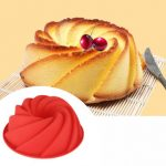 Swirl Shape Silicone Butter Cake Mould Kitchen Baking Tools Cakes Bakery Accessories Bakeware Mold