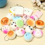 20Pcs Soft Squishy Bread Random Jumbo Medium Mini Panda Cake Bun Phone Strap