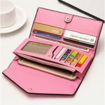 "Women Envelope Slim Design Long Wallets Girls Elegant Purse Card Holder Coin Bags 5.5"" Phone Bags"