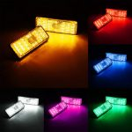 Rectangle Reflector LED Rear Tail Brake Stop Light Car Motorcycle 6-Colors