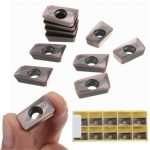 Drillpro 10pcs APMT1604PDER-M2 VP15TF 25R0.8 Carbide Inserts for Mill Cutter CNC Tool