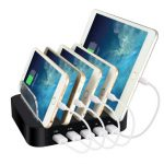Universal 5 Port USB Charger Station Detachable Multi-Device Charging Dock