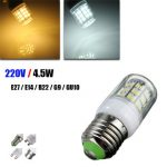 E27/E14/G9/GU10/B22 4.5W 520LM LED Corn Bulb Warm/White 220V Home Lamp