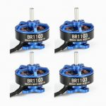 4X Racerstar Racing Edition 1103 BR1103 8000KV 1-2S Brushless Motor Dark Blue For 50 80 100 Frame