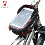 WHEEL UP Bicycle Touchscreen Front Frame Tube Cellphone Waterproof Bag Bicycle Front Frame Case Holder Bag for iPhone 7/Plus,Samsung Galaxy S5/S4,LG,G3 and HTC Holds All Up To 6 inch Smartphones