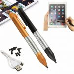 2.4mm Universal Rechargeable Capacitive Touch Screen Stylus Pen For iPhone iPad Samsung Xiaomi